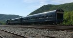 A glinty, going away shot of geometry train W00308.