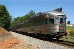 """PPCX 800333 """"Silver Solarium"""" brings up the rear of the deadhead move from Lynchburg to Roanoke."""