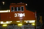 BNSF 3744 side shot as my flash reflects off Her Very, Very, Very Brand New Swoosh Logo Reflective Paint.