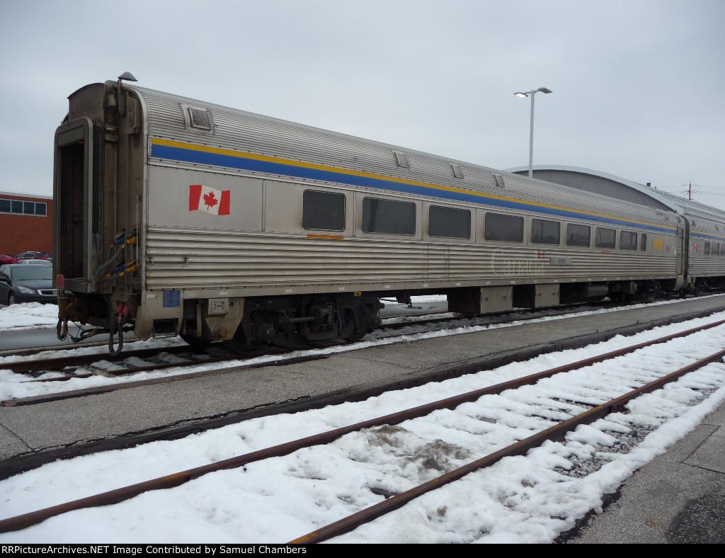 Last car on VIA train