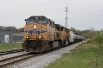 UP 5843 & 4777 roll west down Track 2 with D701