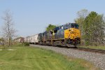 After coming up from Chicago, Q326 leans in to the curve as it passes through Jenison
