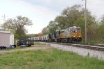 CREX 1525 leads the way as D702 starts its trip east with 110 cars in tow