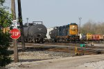 Y193 goes about its switching chores with a pair of GP38-3's for power