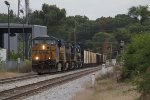 CSX 5236 leads 4 more units onto Track 1 at Seymour with Q335-06