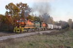 3406, 81 & 3408 give it all they have as they drag Z151 north