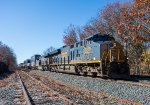 CSX 3269 and another GE haul Q022 east