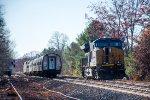 Amtrak #449 passes Q264's tied down power
