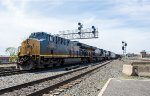 CSX 3316 and two other GEVOs are in charge of today's Q426