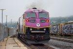MBTA 2000 shoves its train towards the layover yard