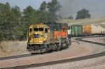 BNSF 6768 is running on yellow blocks