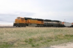 BNSF 9838 is adding to the pile of trains waiting to get up the hill
