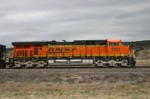 BNSF 5803 is shoving on empties