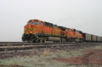 BNSF 5717 has empties in tow