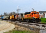 BNSF 2892 and 555
