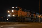 BNSF 3843 Heads into the Commerce Intermodal yard.