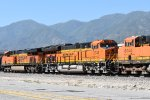 BNSF 3742 Pulls up hill out of San Bernardino towards Cajon Pass.