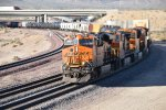 BNSF 7890 Heads west with a Hot Intermodal Z train.