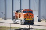 BNSF 3728 Sits in the GE Locomotive yard on the northbound track to the Old BNSF Main that GE Now Owns.
