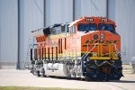 A Zoomed in Shot of BNSF 3728 on The GE Acceptance Track at The GE Fort Worth Locomotive Plant.