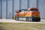 BNSF 3728 With GE Final Assembly Building and Plant in the background.