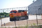 A Left Side Pic of BNSF 3728 as She Sits in The GE Locomotive Plant waiting to Be Picked Up on Monday Morning May 8th, 2017 by A BNSF Alliance Train Crew.
