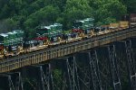 Pakistan Railways 9052, 9053 and 9054 on the James River trestle
