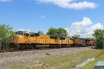UP 4464 overtakes CSX 3269 at Fauna