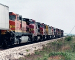 BNSF 6965 and nine other locomotives