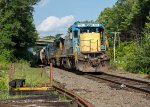 POED waits for a new crew on the main at Wendell Depot