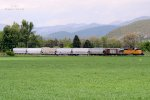 UP SD-40N #1555 leads the southbound Cache Valley Local (LUG-41C) through the valley as it approaches the 11600 N. Xing in Richmond, UT. May 24, 2017