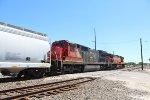 SB BNSF manifest w/ CN Dash 8 trailing