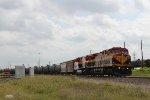 KCSM 4558 leads a tanker train west