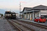 NS SD70ACu #7253 and, NS GP59E #4660 and, ex-PRR office depot station
