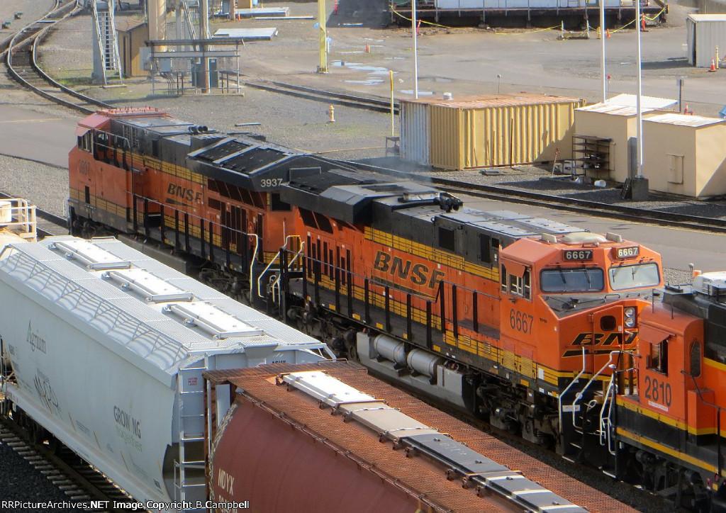 BNSF 6667-BNSF 3937