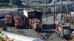 BNSF 5037-BNSF 5464-UP 4147-BNSF 2136