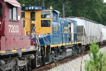 CSX MP15T 1230 goes along for the ride!