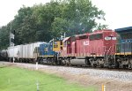 HLCX SD40-2 7203 and MP15T 1230 approach Crestwood Road
