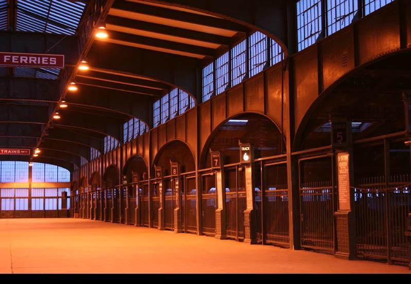 CNJ terminal at dusk.
