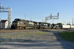 NS 9476 Rolls into the yard at Bellevue Ohio.