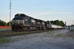 NS 9638 Drags a freight into Bellevue Ohio.