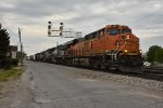 BNSF 6541 Leads a long freight into Bellevue Ohio.
