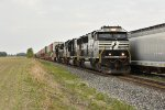 NS 6984 Races toward Bellevue Ohio with a stack train in tow.