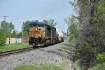 CSX 597 Get's on the throttle.