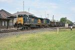 CSX 4229 Races a coal load through Deshler Oh.