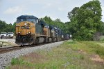 CSX 778 Leads a hot Q toward Evansville Indiana.