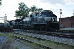 NS 9975 Drags a freight east toward Fort Wayne,
