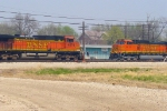 BNSF 4876 east and 5012 west