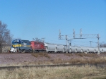 DME 6359 Finally Gets a Chance to Lead His Boring Grain Train