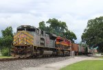 "KCS 4003 ""gray ACe"" leads a WB grain train"